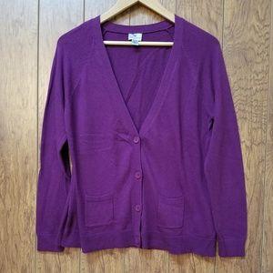 Worthington Woman's Cardigan Knit sweater Size PL